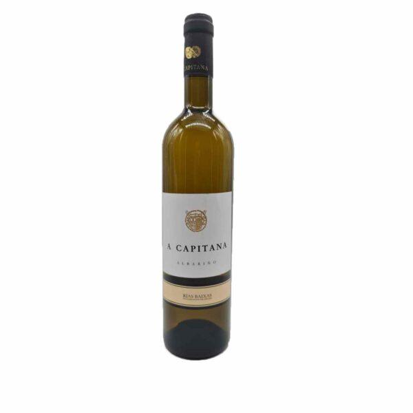 Este vino albariño A Capitana es fantástico para acompañar marisco