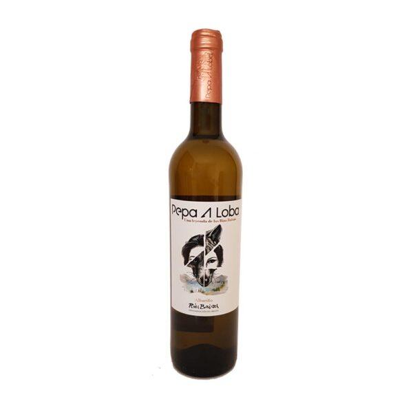 Este vino albariño Pepa A Loba es fantástico para acompañar marisco