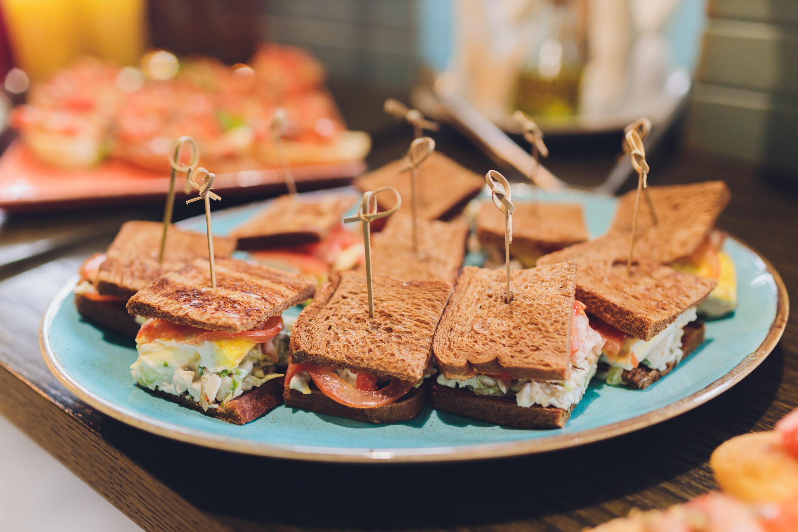 Mini sandwich de pulpo y cigalas
