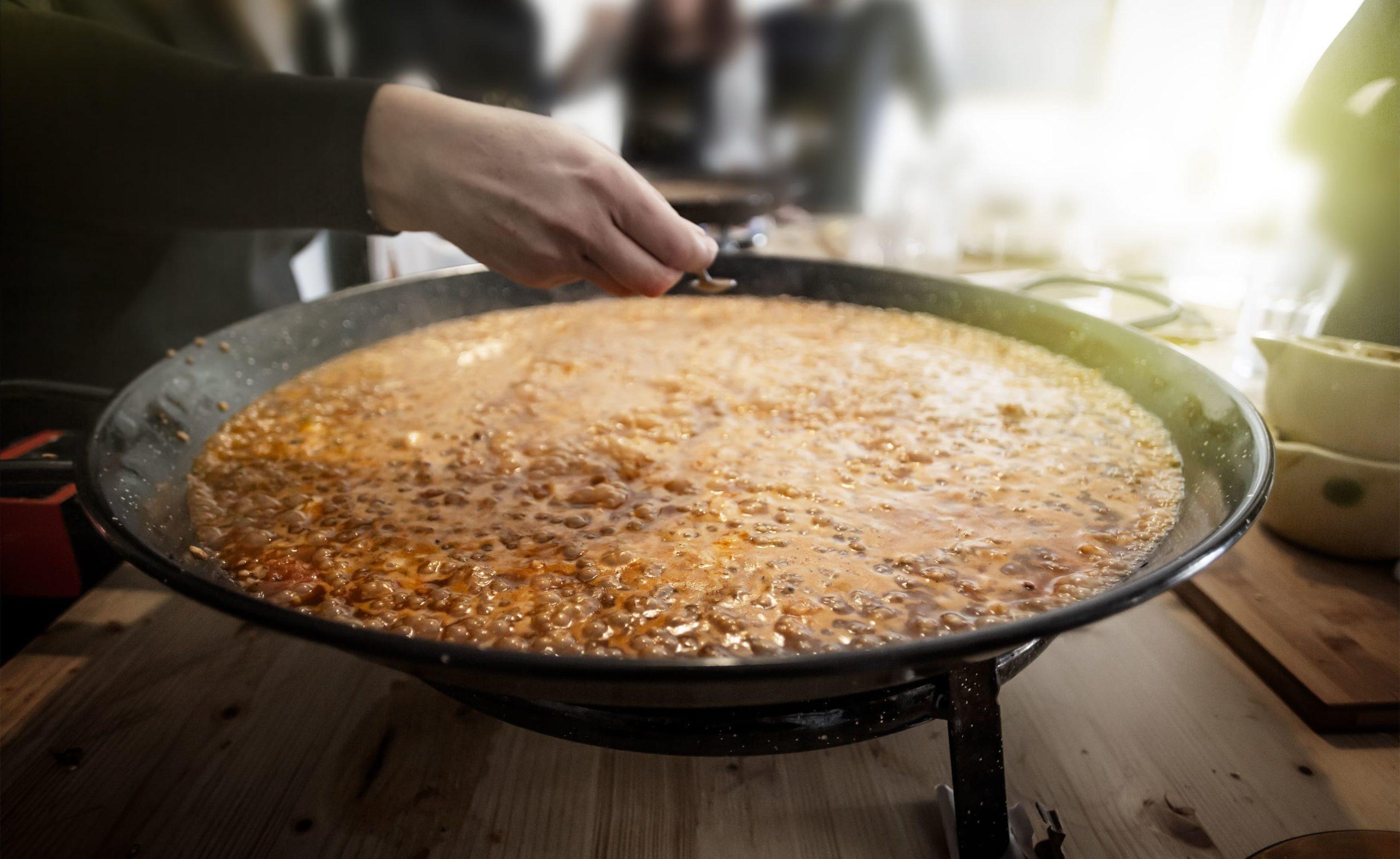 como hacer paella de marisco