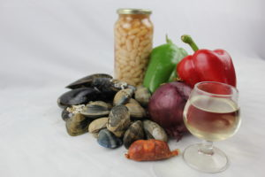 ingredientes fabes almejas